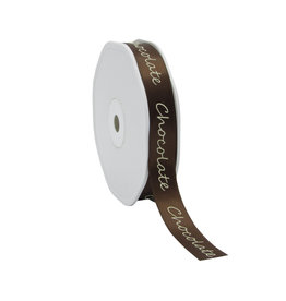 "Single face satin Band ""Chocolate"" - Chocolate Braun"