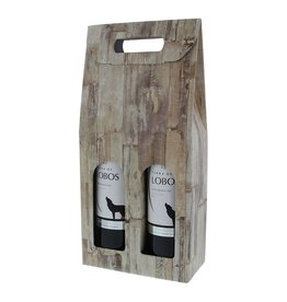"Caja para 2 botellas "" Wood"""