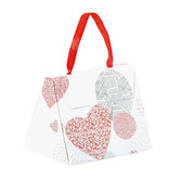 "Mini Bag ""Passion"" for 2 to 4 chocolates - 80 * 55 * 65 mm - 25 pieces"