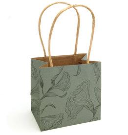Floralice Paper Bag - Light Olive - 5 pieces
