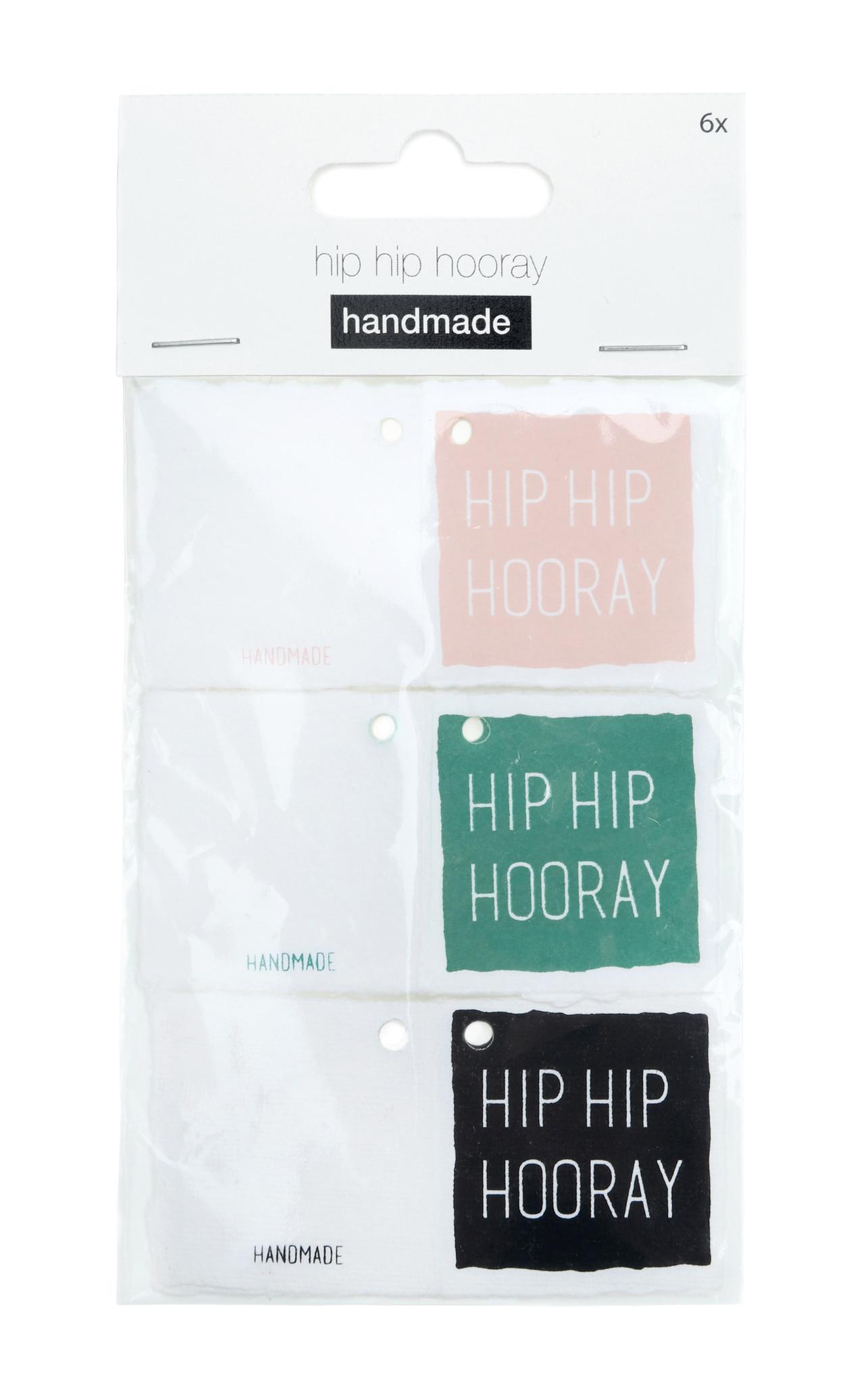 Hip Hooray tags - 36 Stück