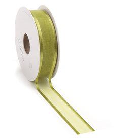Prego woven edge Ruban -Spring Green
