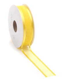 Prego woven edge Ruban - jaune