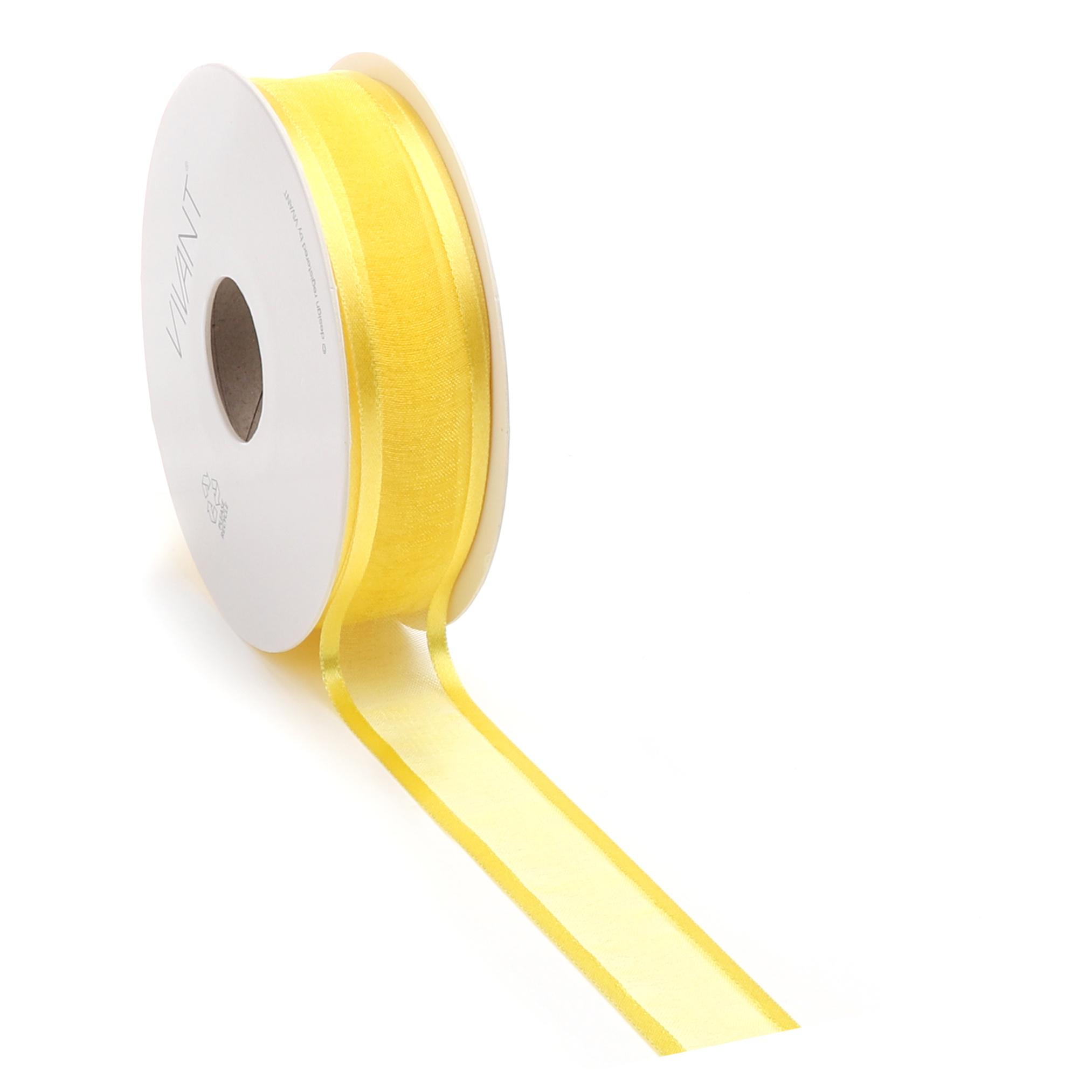 Prego woven edge Ribbon - yellow