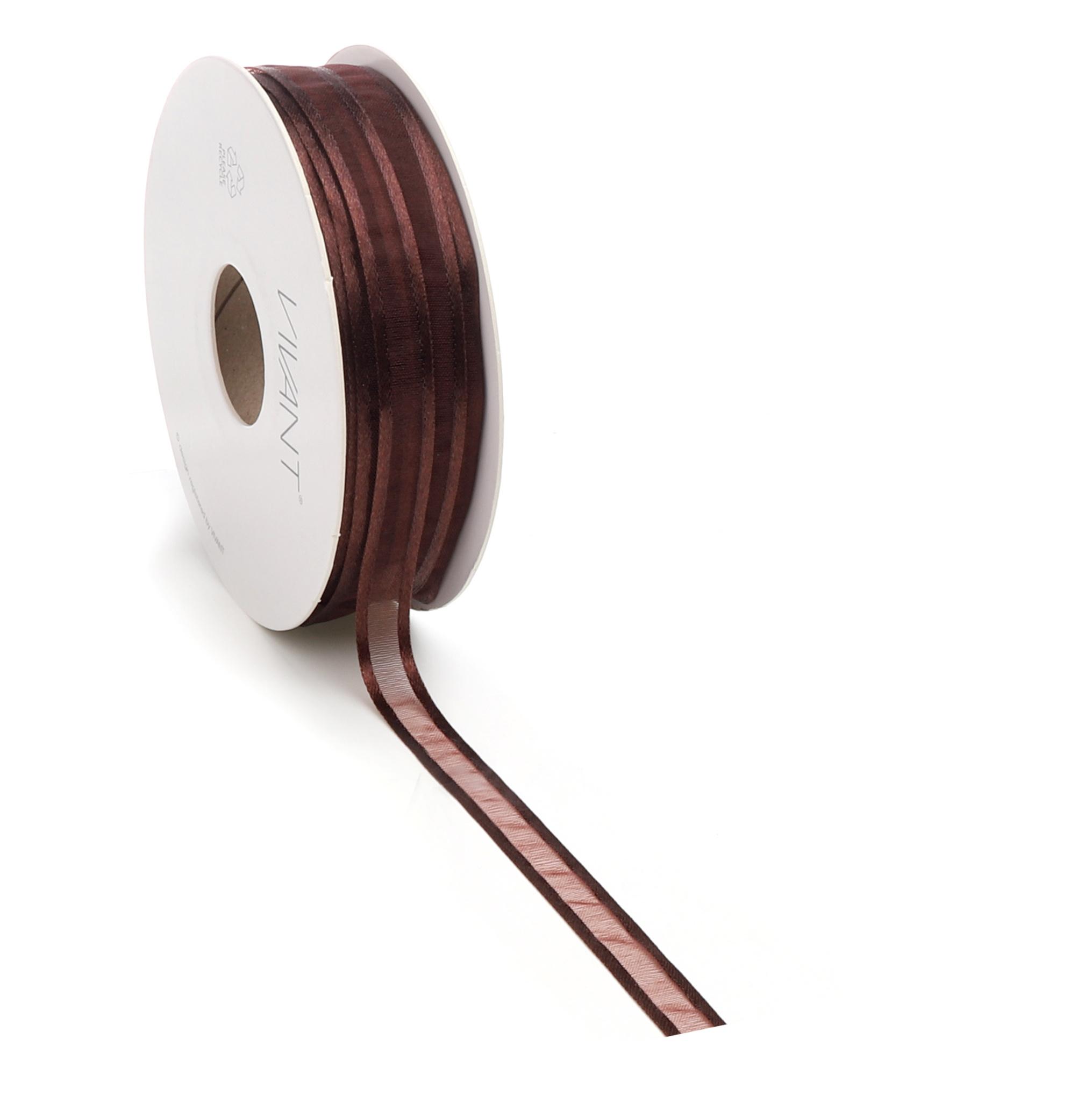 Prego woven edge Ruban - marron