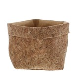 Cork bag naturel  with jute  lining - available in 2 sizes