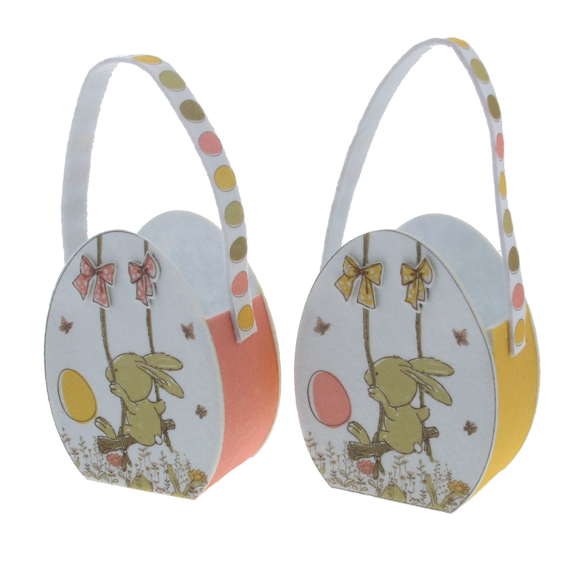 """Bunny Swing"" egg basket  - 115*65*240mm  - 8 pieces"