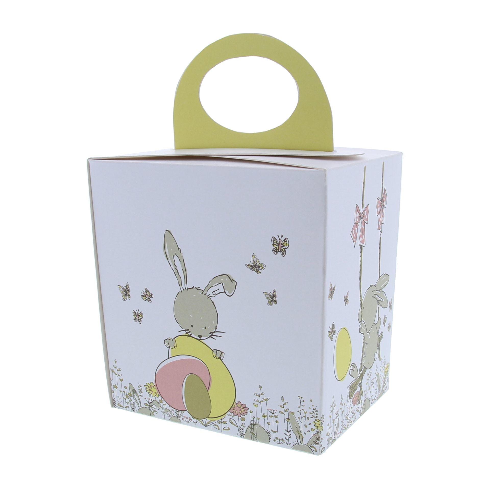 """Paaseidoos """"Bunny Swing"""" met sokkel"""