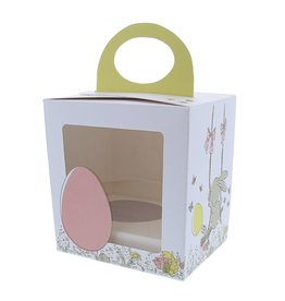 """Easter egg box  """"Bunny Swing"""" with stand"""