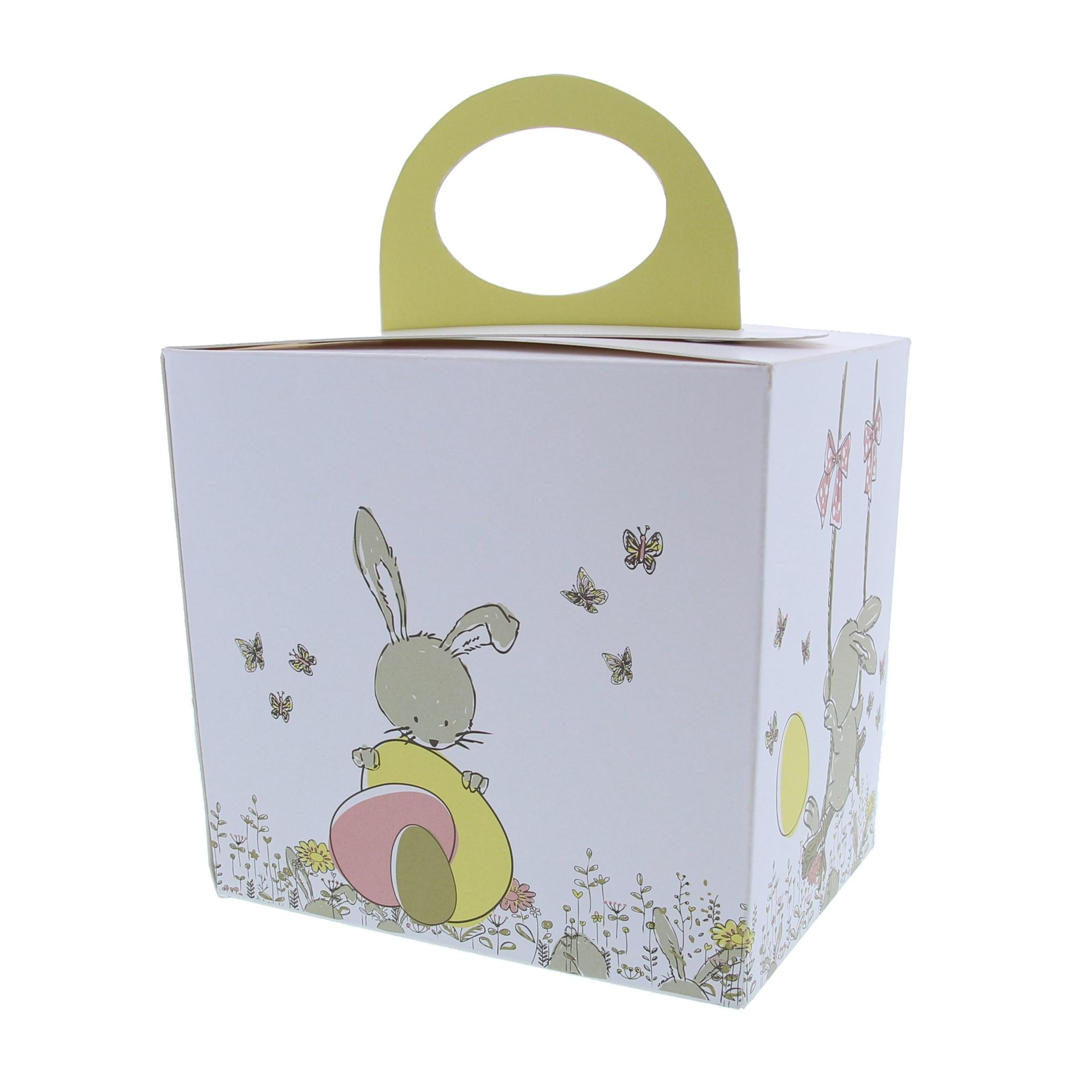 "Easter egg box  ""Bunny Swing"" with stand"