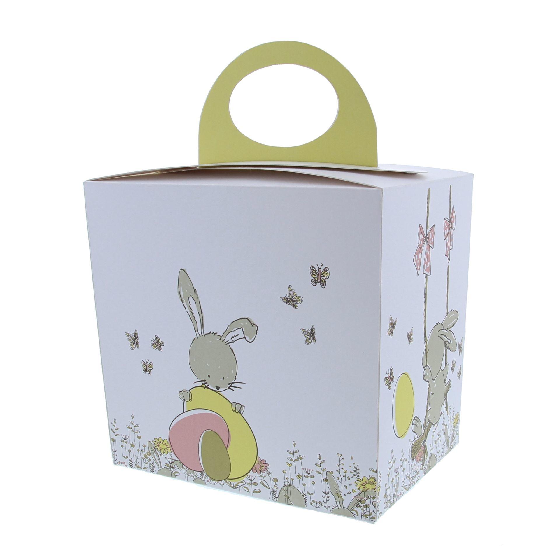 "Sac coffret Oeuf  ""Bunny Swing"" avec socle"