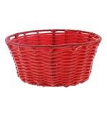 Panier rond en plastique - rouge   - 6 pièces