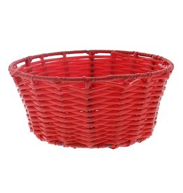 Panier rond en plastique - rouge