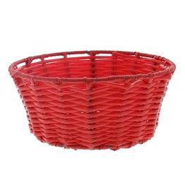 Plastic basket round - red