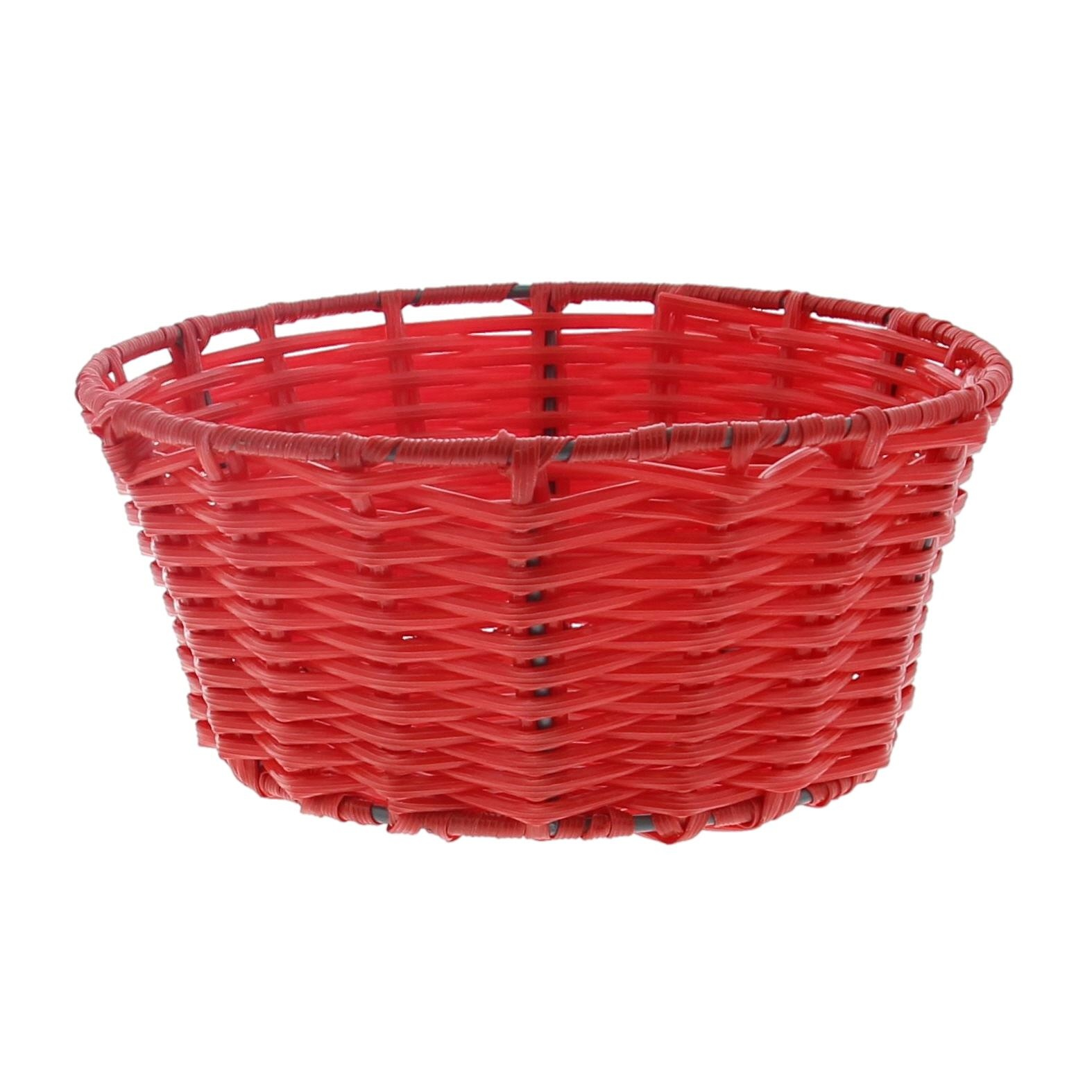 Plastic basket round - red  - 6 pieces