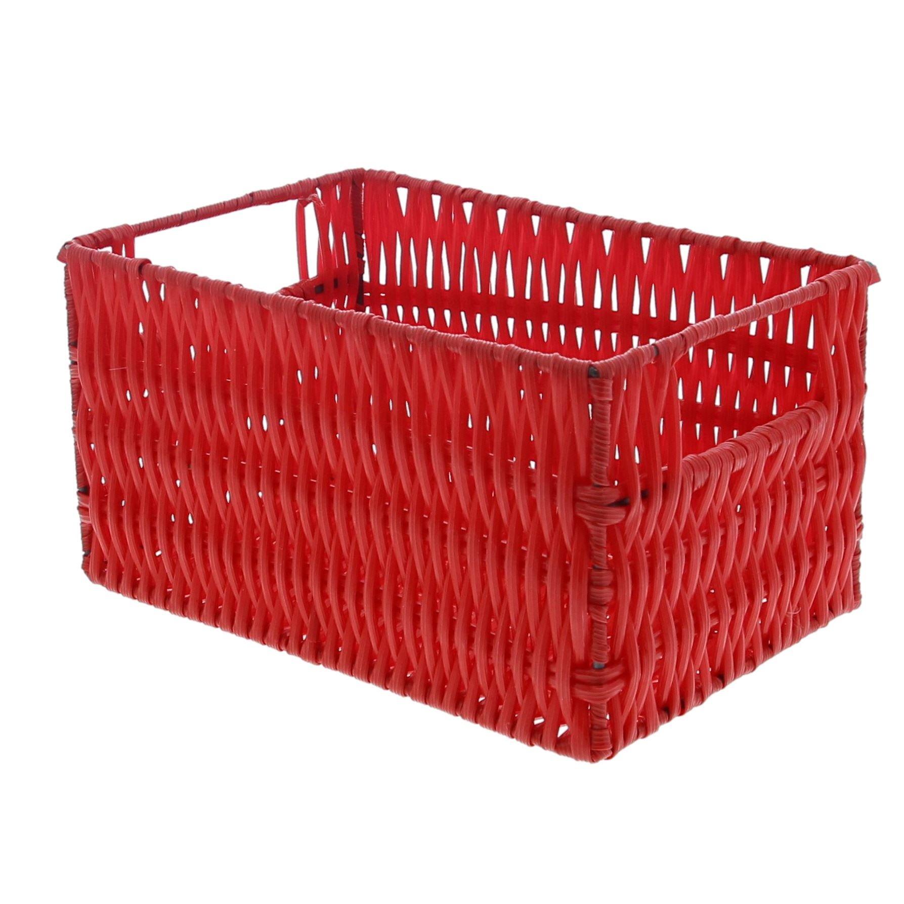 Kunststoffkorb rechteckig - Rot  - 5 Stück