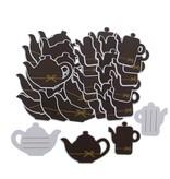 """Label """"Goldy"""" Schokoladenkaffeekanne und Teekanne  - 72  Stück"""