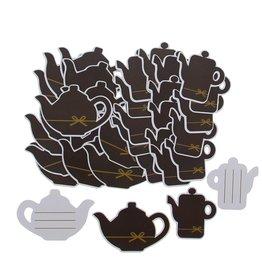 """Label  """"Goldy"""" Cafetière et théière en chocolat"""