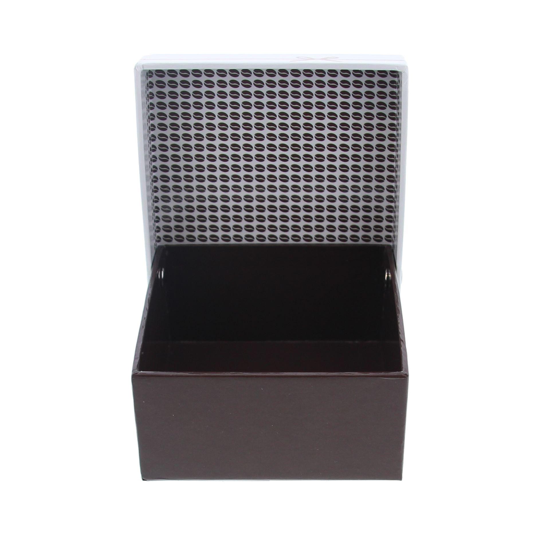 """Chocolate """"Goldy"""" Boîte carré avec couvercle  -105*105*55mm - 10 pièces"""