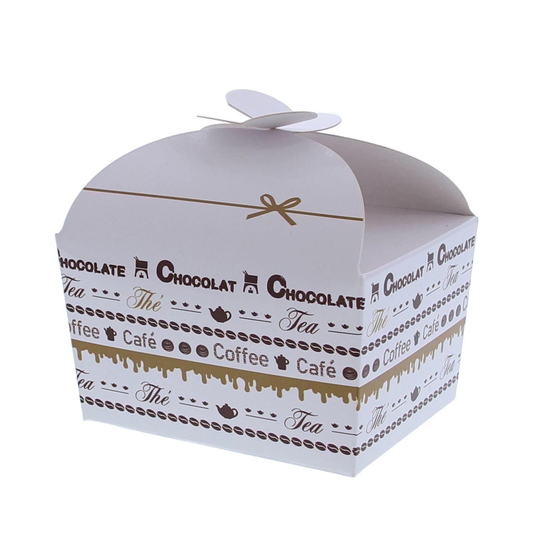 """Ballotin vlindersluiting """"Goldy"""" Chocolate 250 gram - 105*85*85mm  - 48 stuks"""