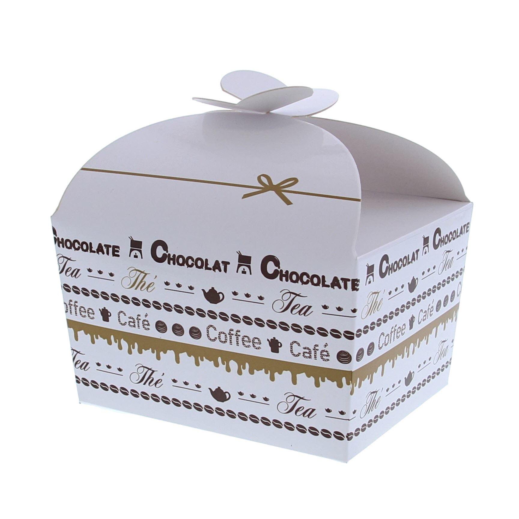 """Schachtel """"Goldy"""" Chocolate 500 Gramm - 125*105*100mm - 48 Stück"""