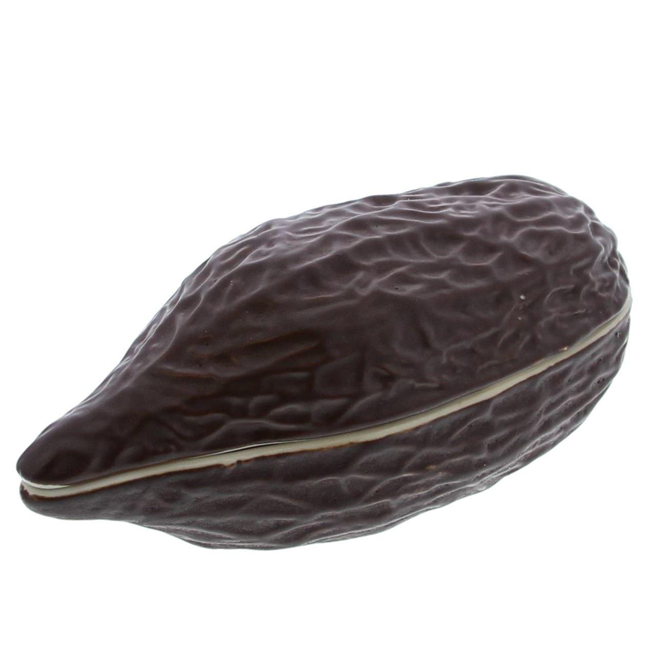 Cacaoboon bonbonnière  - verkrijgbaar in 2 verschillende maten