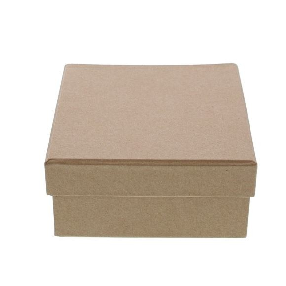 Kraft square Box with lid - - 130*130*65mm - 10 pieces