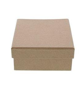 Kraft  Boîte carré avec couvercle