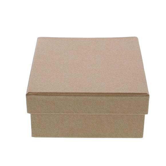 Kraft   Schachtel quadratisch mit Deckel  - 105*105*55mm - 10 Stück