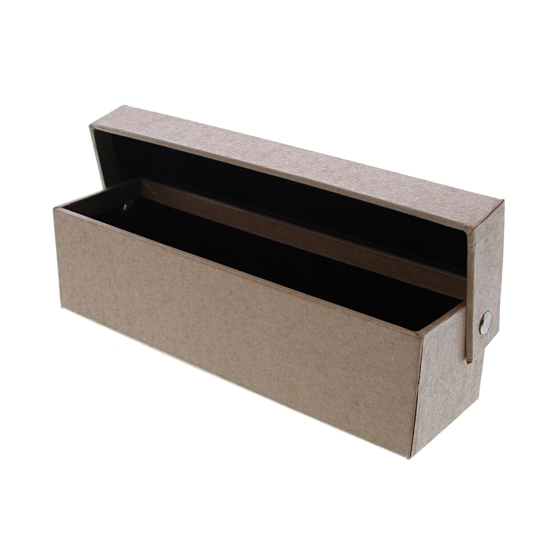 Kraft doos met deksel rechthoekig - 190*60*55mm - 10 stuks