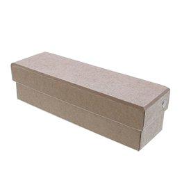 Kraft caja rectangular con tapa