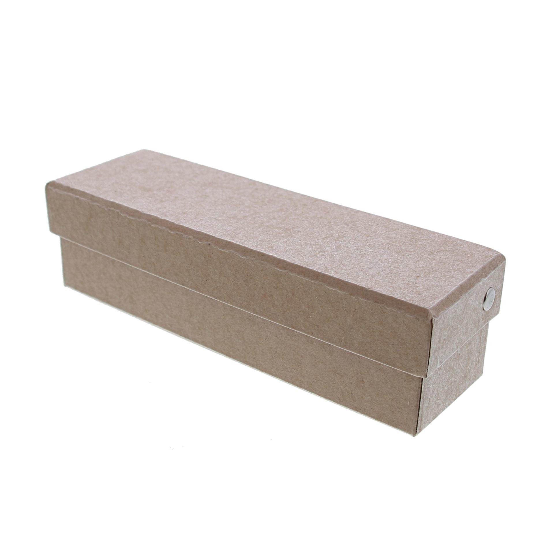 Kraft rectangular Box with lid - 190*60*55mm - 10 pieces