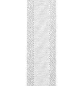 Prego woven edge Ribbon - silver