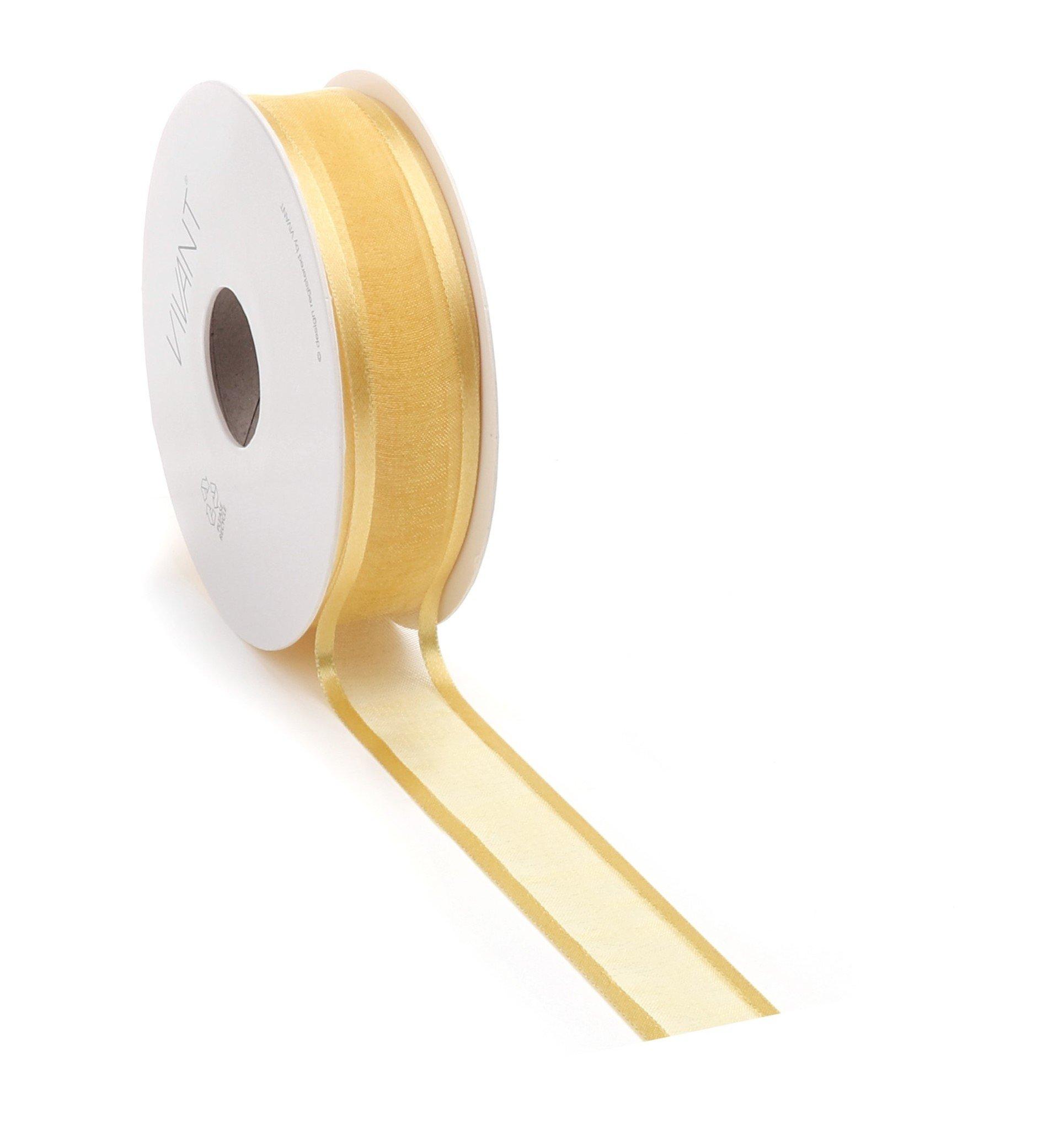 Prego woven edge Ribbon - gold