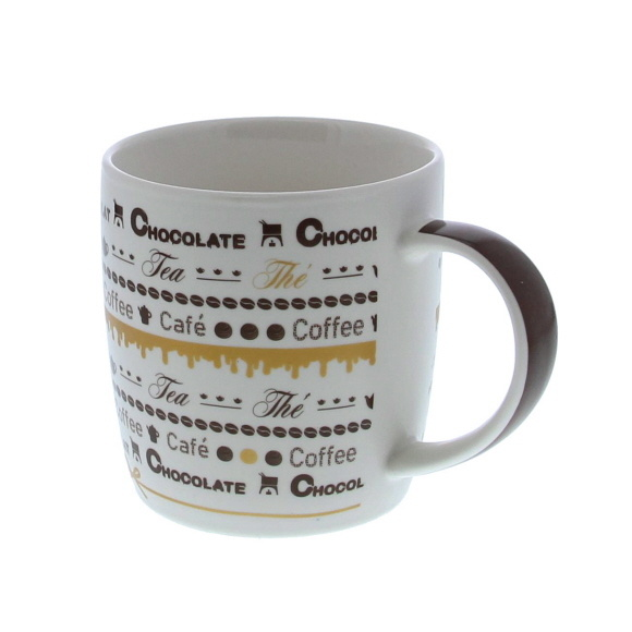 """Goldy"" chocolate Tasse -  120*85*90mm - 12 Stück"