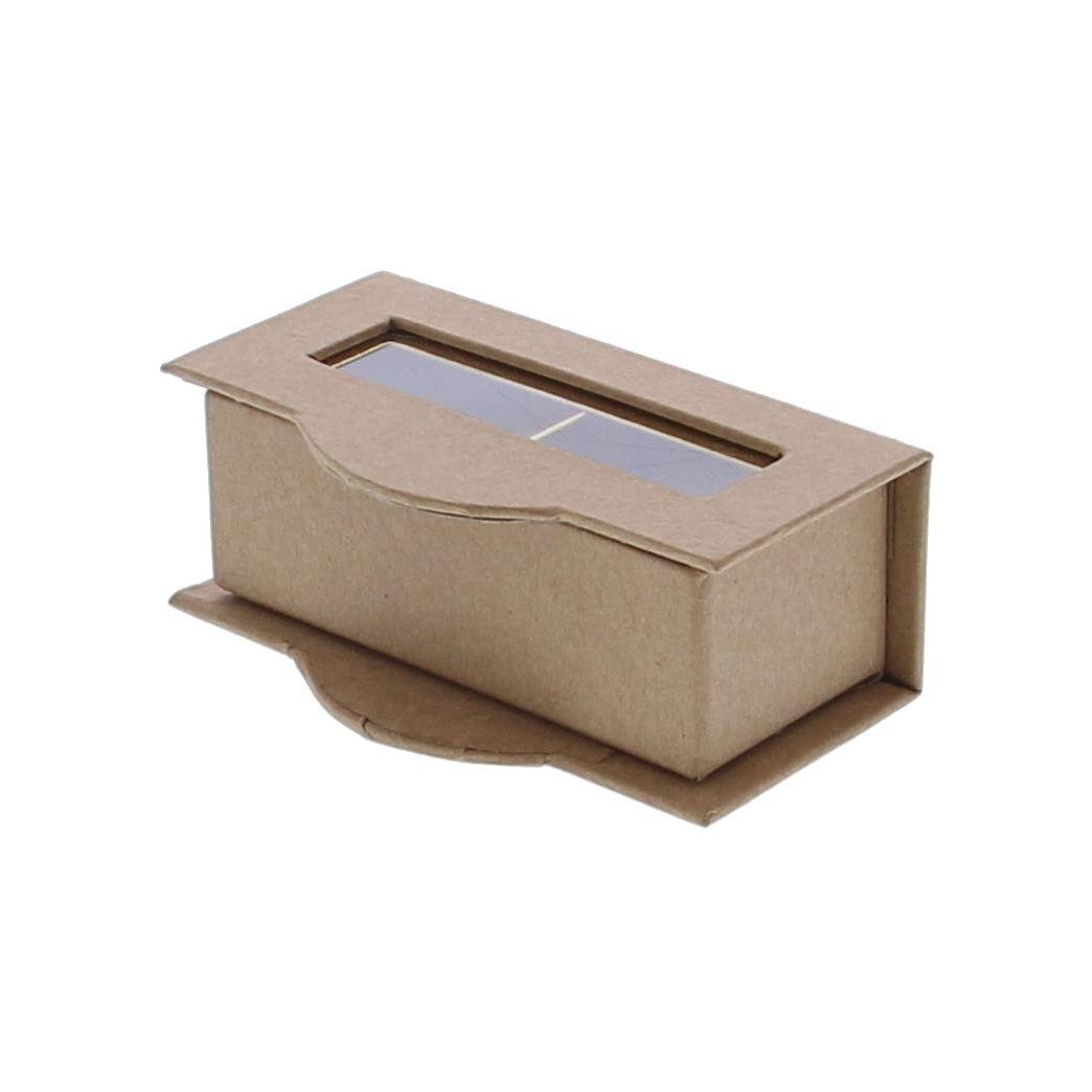 Boite à fenêtre transparente 2 pralines kraft - 100 *55*35  mm - 50 pièces