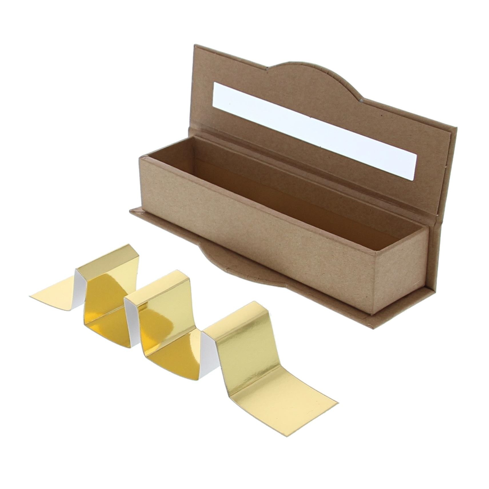 Clear window box 4 pralines kraft - 55 * 170 *40 mm - 20 pieces