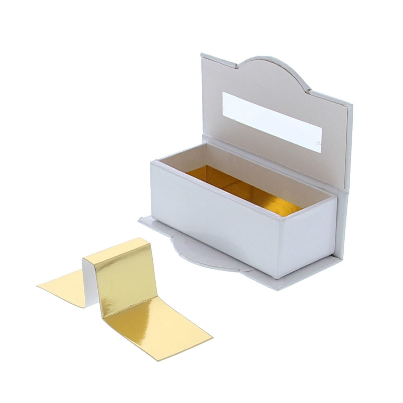 Boite à fenêtre transparente 2 pralines blanc - 100 *55*35  mm - 50 pièces