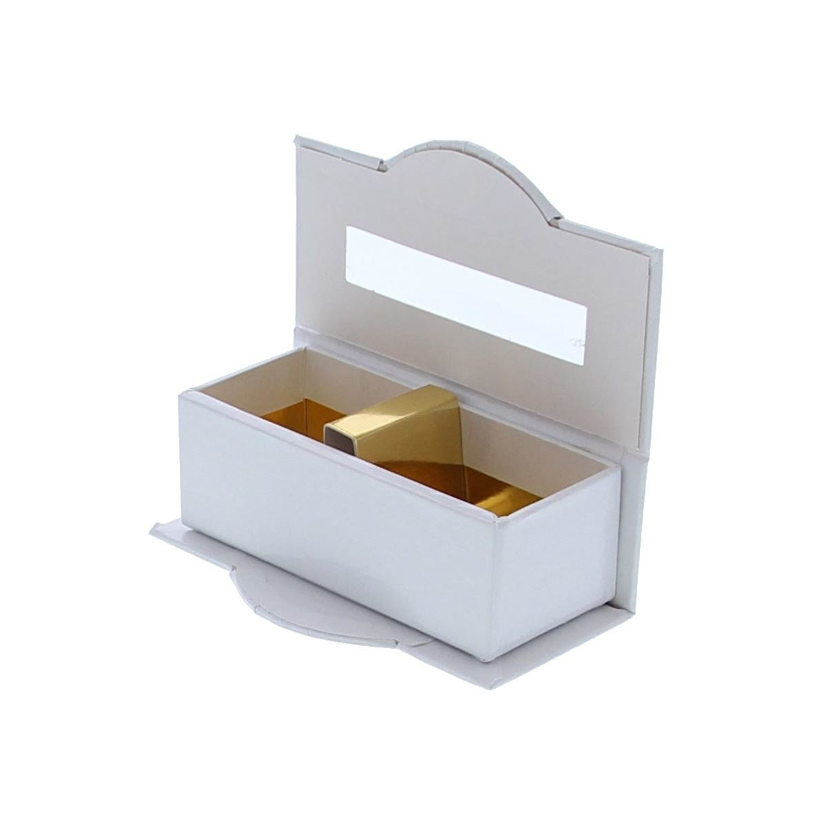 Klare Fenster schachtel 2 pralines Weiß - 100 *55*35  mm - 50 Stück