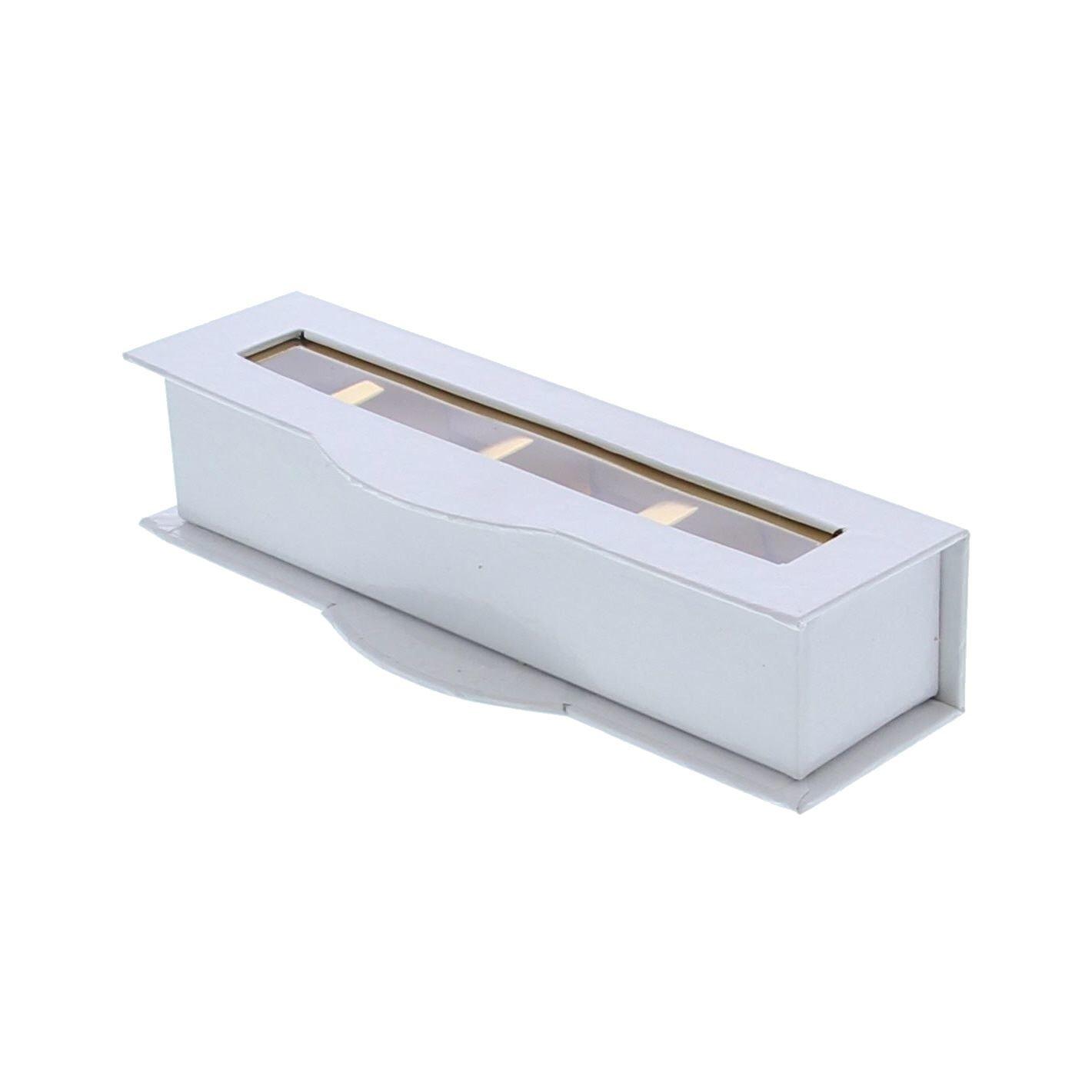 Boite à fenêtre transparente 4 pralines blanc - 55 * 170 *40 mm - 20 pièces