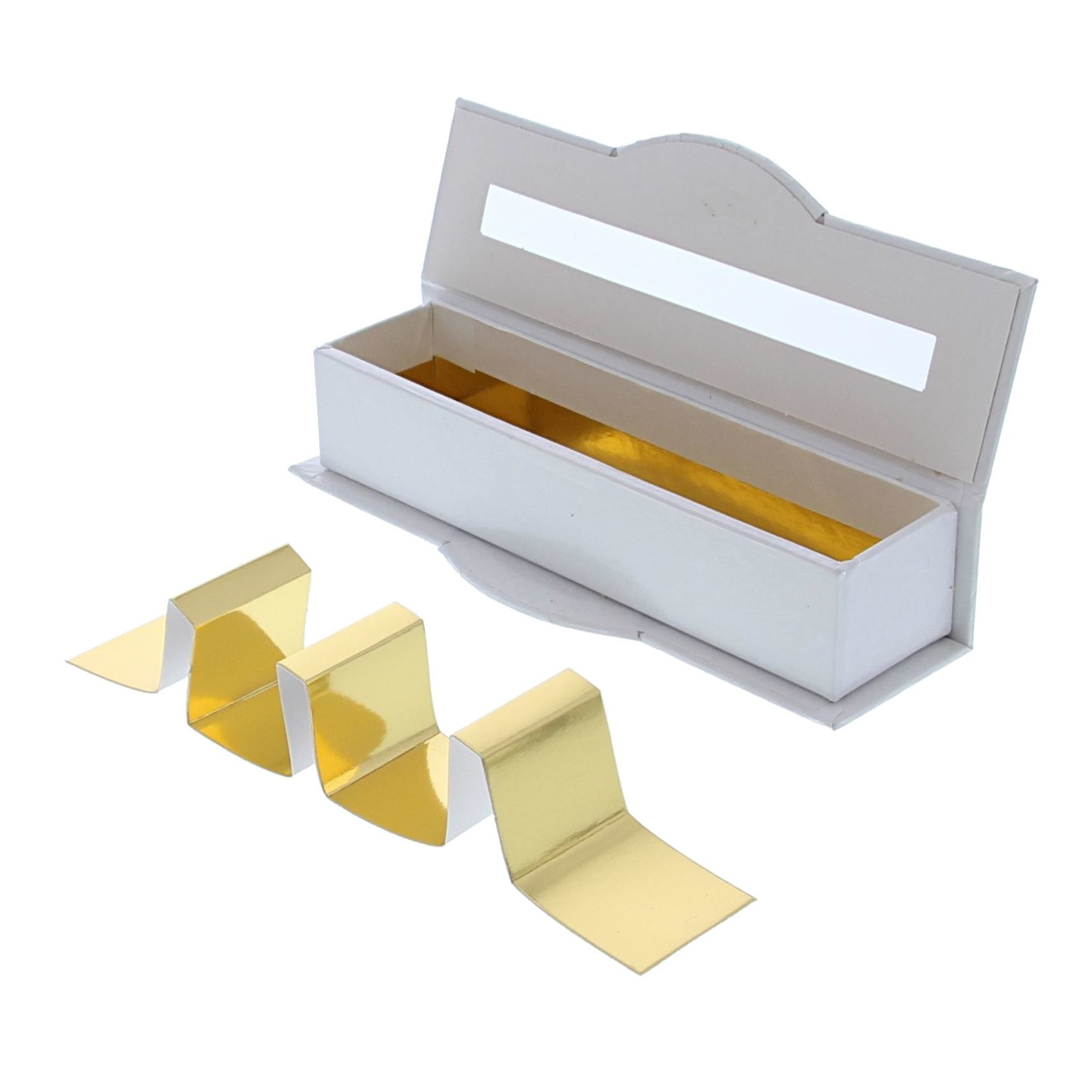 Clear window box 4 pralines white - 55 * 170 *40 mm - 20 pieces
