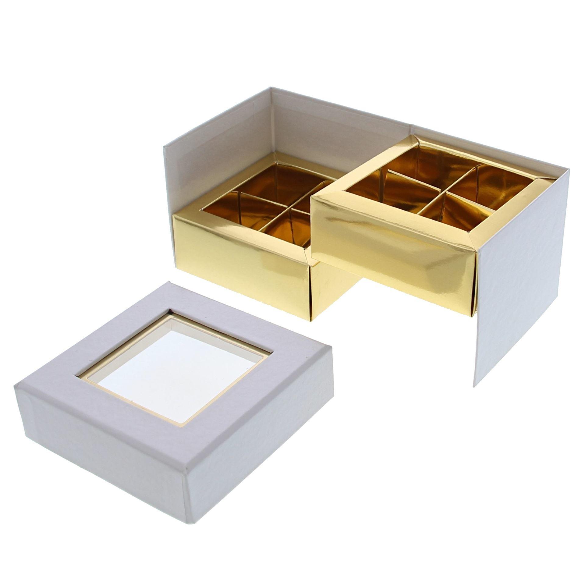 Boite à fenêtre  cube blanco 2 niveles - 90 *90*75 mm - 10 unidades