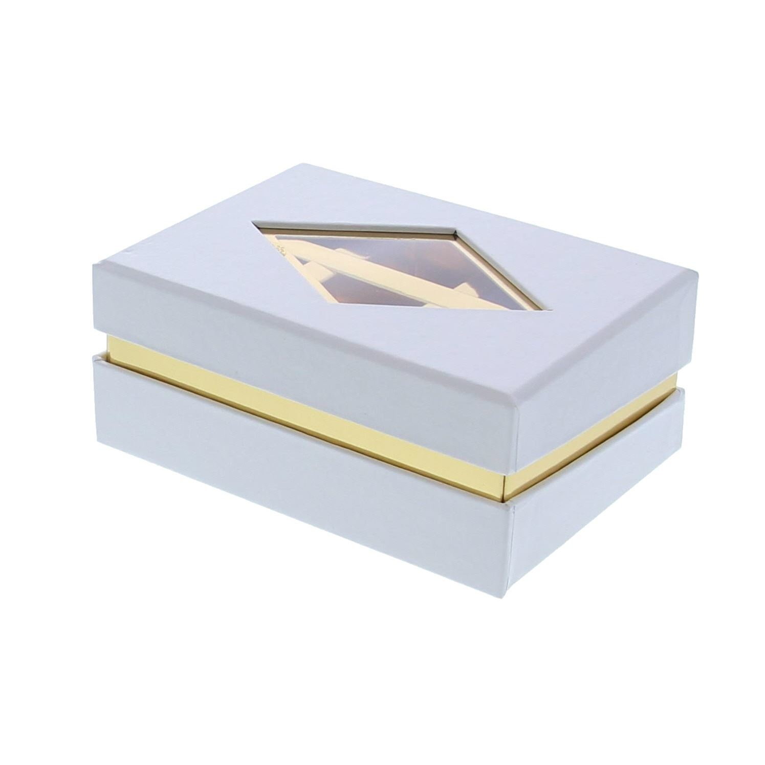 Clear window box  white - 125 *95*55 mm - 20 pieces