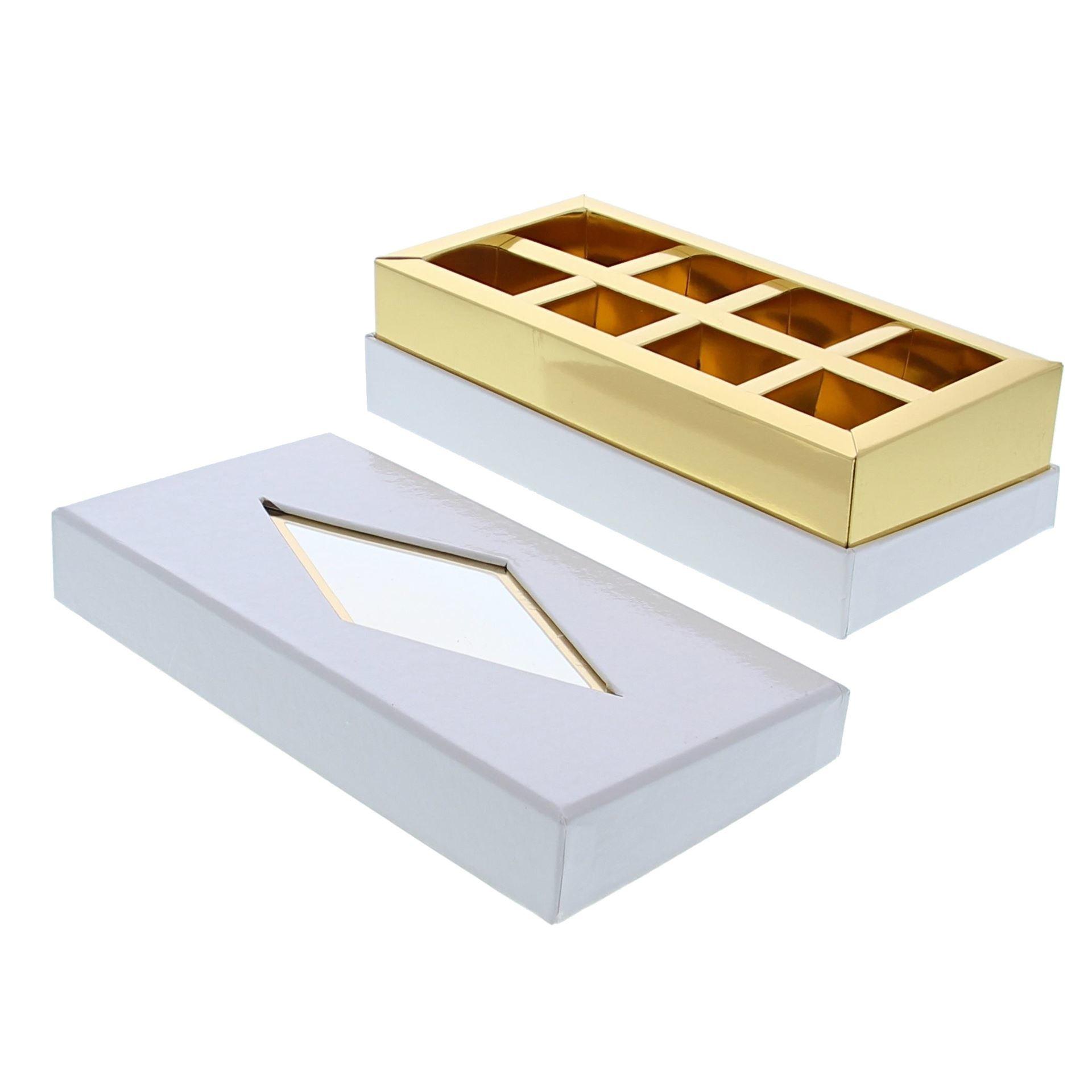 Caja de ventana transparente  blanco - 190 *95*55 mm - 20 unidades