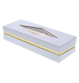 Caja de ventana transparente   blanco