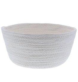 Redondo Cesto de cuerda de papel - blanco