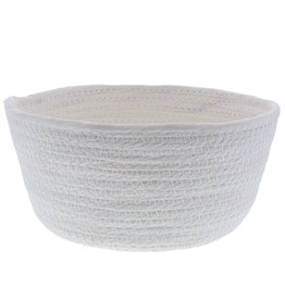 Ronde papier touw mand - Wit