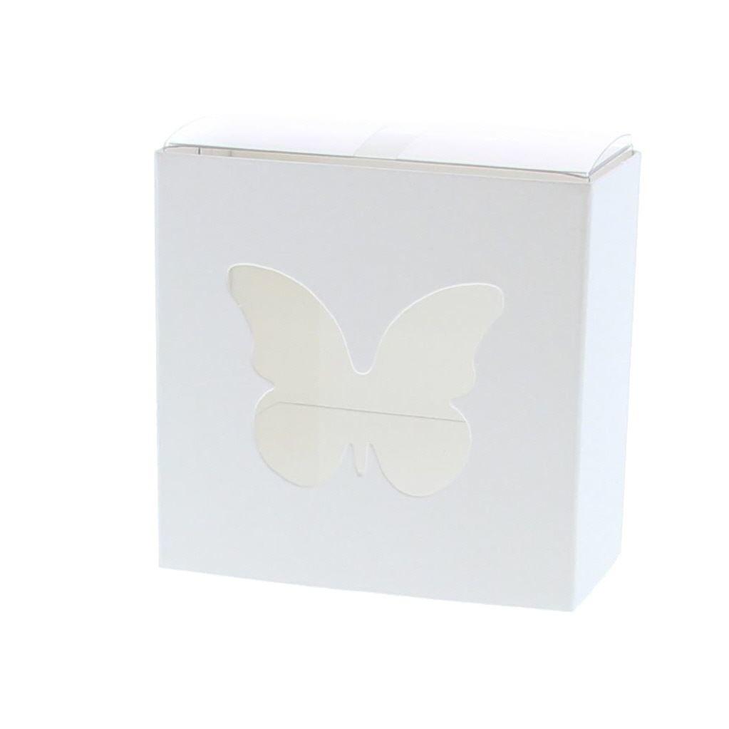 Schiebeschachtel Schmetterling Weiß - 200 Stück
