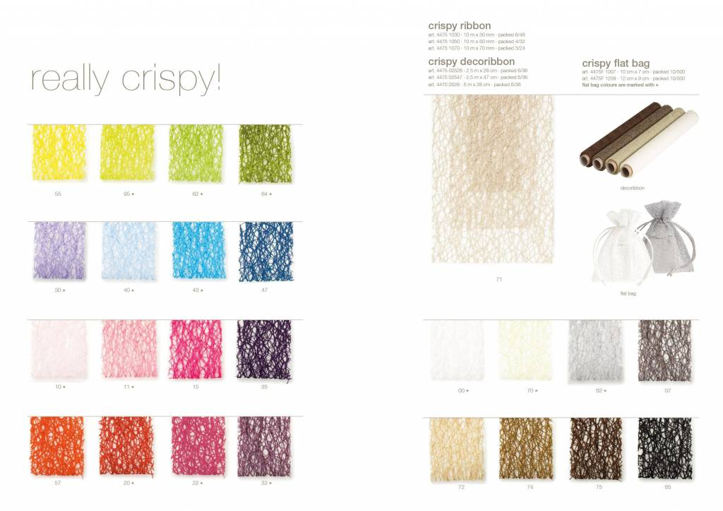 Crispy ribbon - Mix Brown