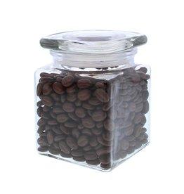 Glass storage jar with  square lid
